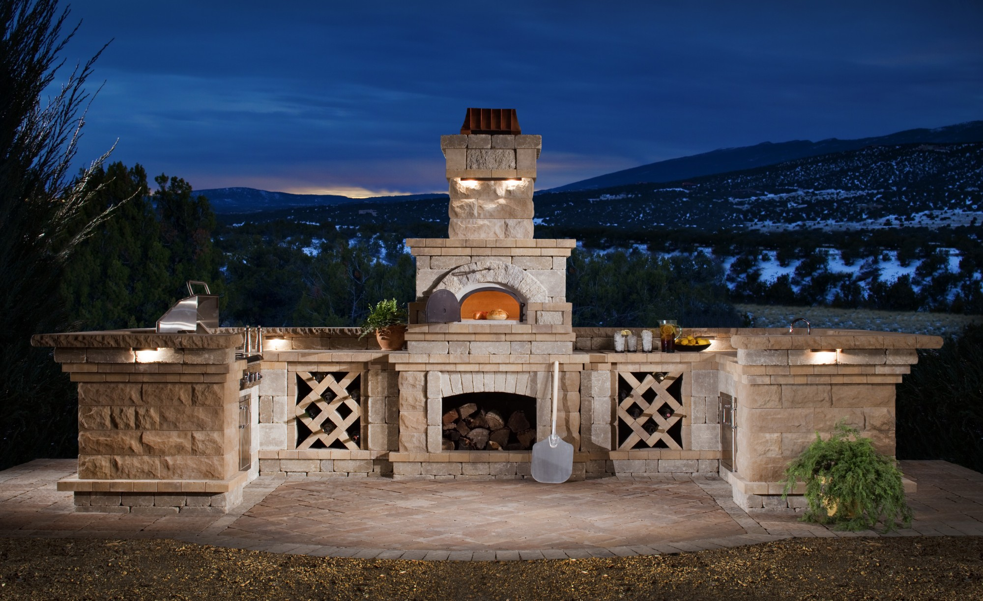 Outdoor Kitchen Brick Oven From The Nottingham Collection